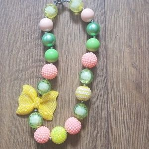 Bow Bubblegum Necklace